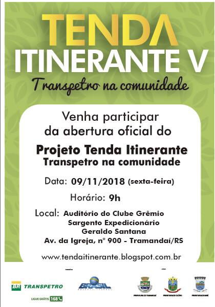 Palestra de abertura da TENDA ITINERANTE V – Transpetro na Comunidade