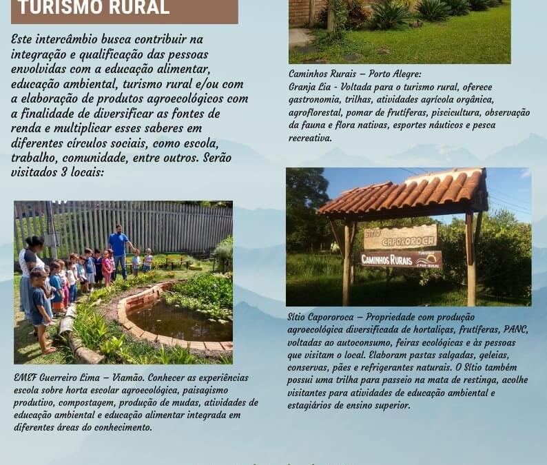 Intercâmbio – Inspirações Ecopedagógicas, Gastronômicas e de Turismo Rural