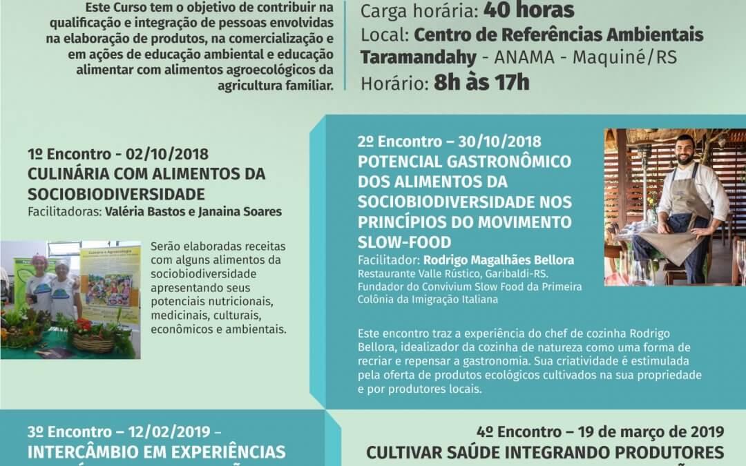 Curso de Culinária Agroecológica, Gastronomia e Saúde